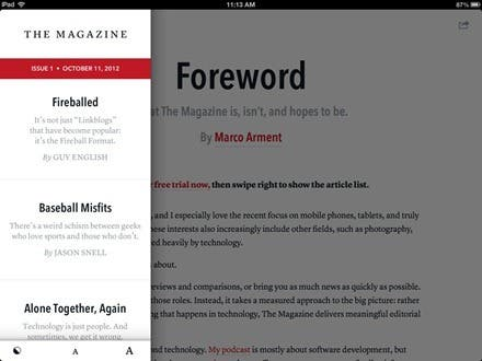 Notable New iPad Apps: The Magazine, from the Creator of