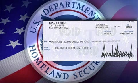 Damned when he does, President Trump's donates salary to DHS
