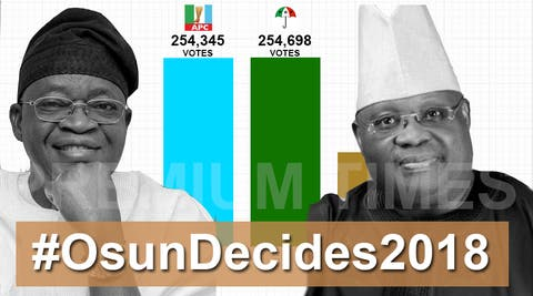 Image result for APC and PDP battle for just 3,498 votes in Thursday's re-run