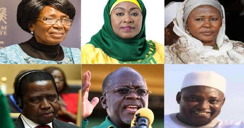 Africa's female vice-presidents: Zambia, The Gambia and