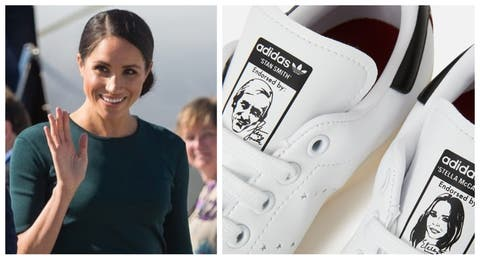 Pregnant Meghan Markle Shows Off Vegan Stan Smith Trainers 45a659c1b